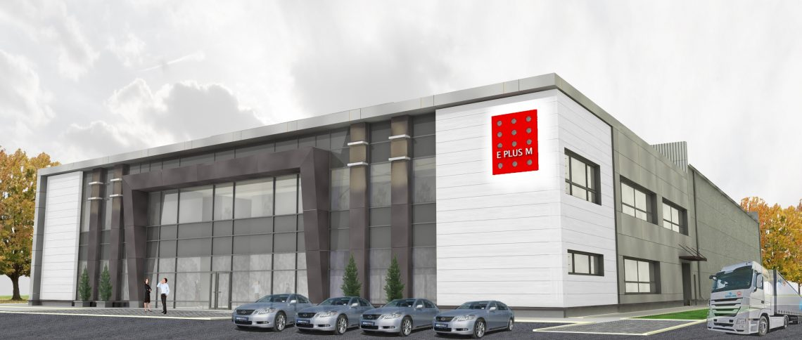 Budowa magazynu wysokiego składowania z budynkiem biurowo-socjalnym dla E Plus M