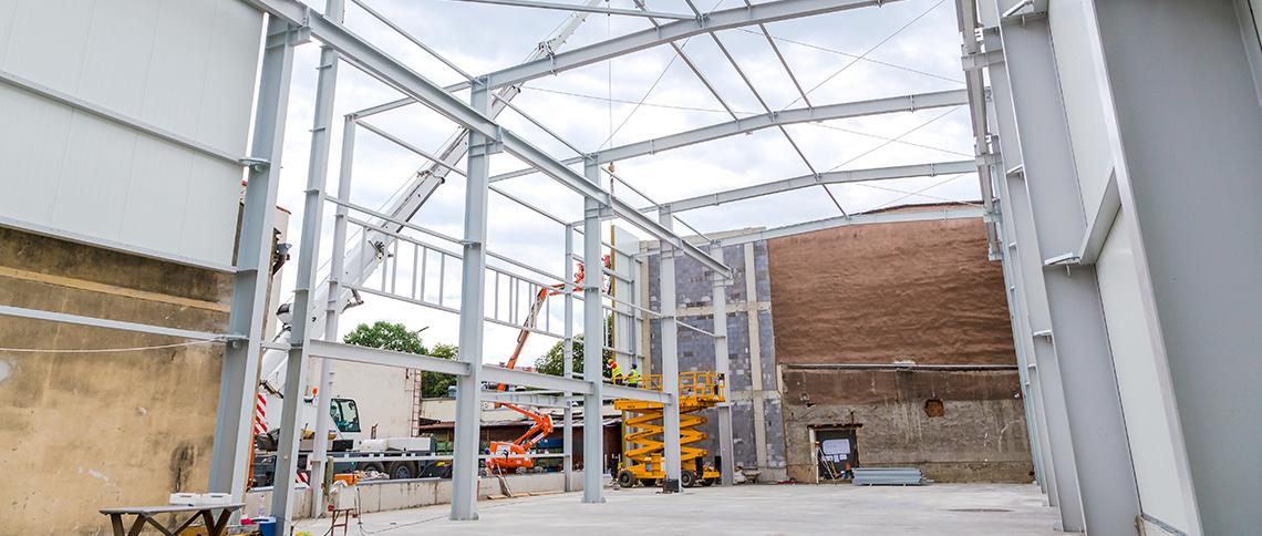 Budowa hali produkcyjnej z suwnicą wraz z instalacjami
