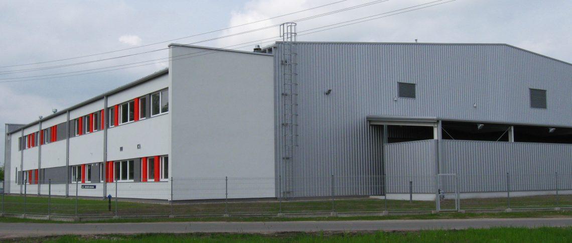 Hale magazynowe, produkcyjne oraz budynki biurowe i techniczne dla Flint Group Polska Sp. z o.o.