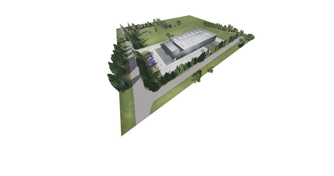 Stalbau hale stalowe D&N Poligrafia Knurów Gliwice generalne wykonawstwo projekty hal konstrukcje lekkie hale magazynowe